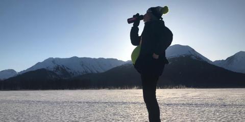 pregnant lady in alaska